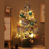 Blue Flocked Christmas Tree 0.9 Meters Christmas Decorations Gift Mini Home Ins Ornaments