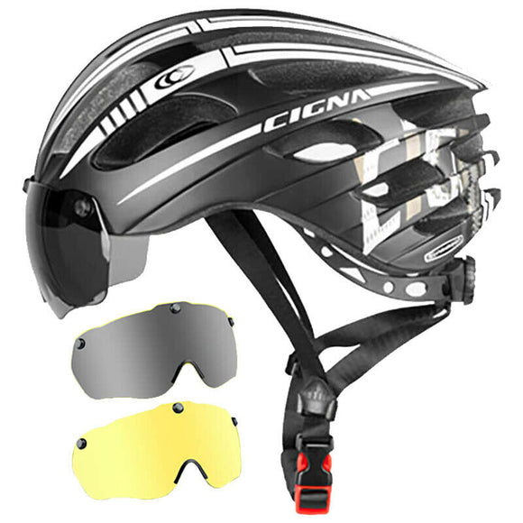 Cycling Helmet Mountain Bike Goggle Glasses One Road Bicycle Safety Hat CIGNA