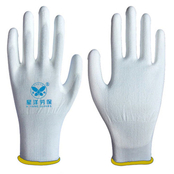 ESD Work Safety Gloves Hand Protection White