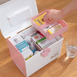 X-8281 First Aid Kit Box Medicine Medical Storage Box Medical Plastic Drug For Home