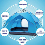 3-4 People King Biker Size Camping Tent Outdoor Shelter - ottostore