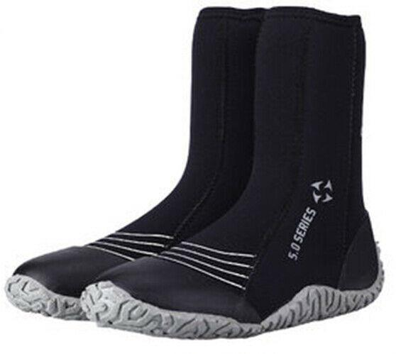 Black 5mm Neoprene Wetsuit Boots Booties for Men Jetski Surf Scuba Dive Snorkeling