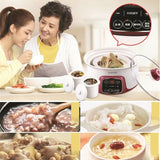 Supor Digital Electric Stew Pot 2.5L Cooker Small Removable Ceramic Inner Pot