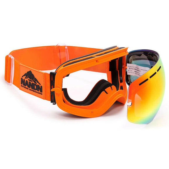 NANDN Ski Goggles Double Anti-fog Men And Women Large Spherical Ski Glasses Equipment Single And Double Board Goggles