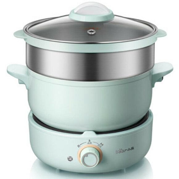 Bear DHG-B25Z1 Electric Hot Pot Cooking Fry Pot Cooker for Soup Porridge Steamed