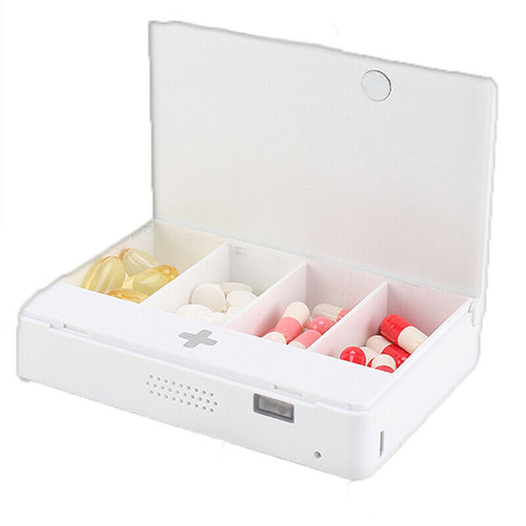 Portable Medication Reminder Timer Timed Alarm Medicine Pills Box Electronic Box Voice reminder
