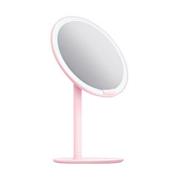 AMIRO High Definition Sunlight mirror Makeup mirror  LED wireless with light desktop princess mirror