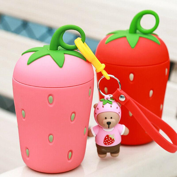 Strawberry Glass Cup Girl's Favorite Ins Hot Korean Style Portable Cup