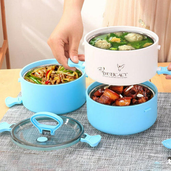 1/2/3 layer stainless still thermal insulation Bento food container lunch boxes