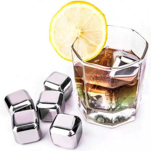 304 Stainless Steel Metal Ice Cubes Whiskey Wine Cooling Ice Cubes
