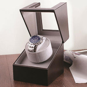 Brown Luxury High-quality Watch Holder Automatic Mechanical Watch Winder Motor Case