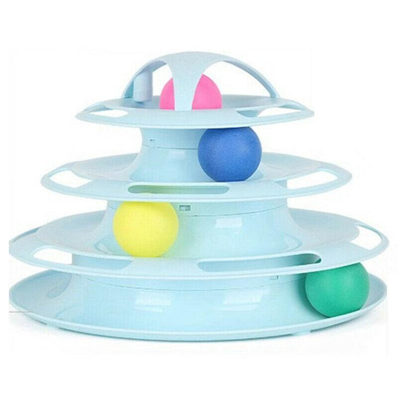 Four-layer Cat Play Board Ball Chase Cat Toy
