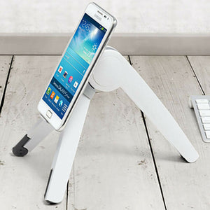Computer Holder, Lap Top Holder, Phone Holder, White Color