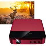 Mobile Projector Wifi Connection Wireless Red Color