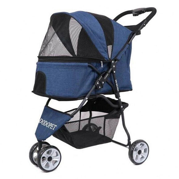 Pet Portable Foldable Travel Stroller Car Cats Stroller Small Mid Dogs Stroller