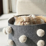 PURROOM Fur Ball Bed Cat Bed with Fur Ball - ottostore