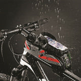 Grey Bike Phone Bag MTB Bicycle Cyling Waterproof Mobile Phone Accessories Pack Pouch