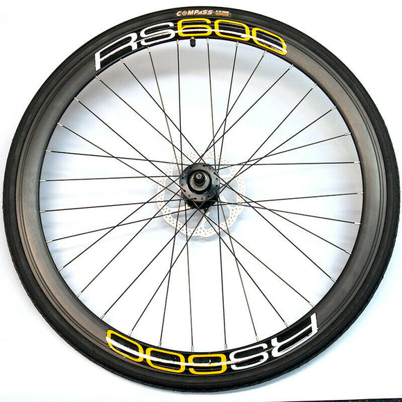 OTTO RS600 Front Wheel Set Black And Yellow