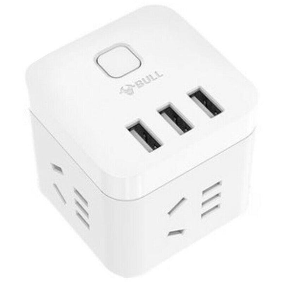 Cube Power Strip with USB Over heat protection Electric Shock Protection