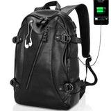 Men Travel Bag Back Pack USB Cable Mobile Charge Cable Waterproof