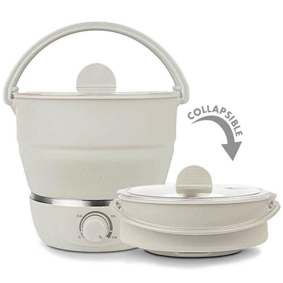 Electric Portable Fordable Pot Multi function Cooking Pot Steam Hot Pot Noodle Cooking