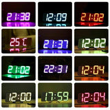 Full Color 3D LED Digital Timer Remote Clock Temperature Alarm - ottostore