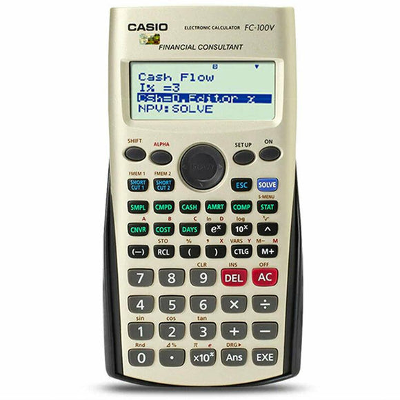 CASIO FC-100V Financial Calculator Consulatant Compound Interest
