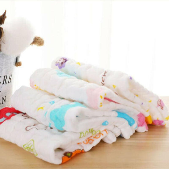 5 PCS Newborn Supplies Gauze Towel Saliva Towel Baby Wash Towel Baby Absorbent Small Square Cotton Children Handkerchief