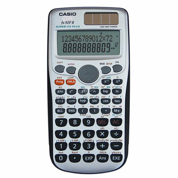 CASIO FX-50FII Programmable Calculator Solar& Battery