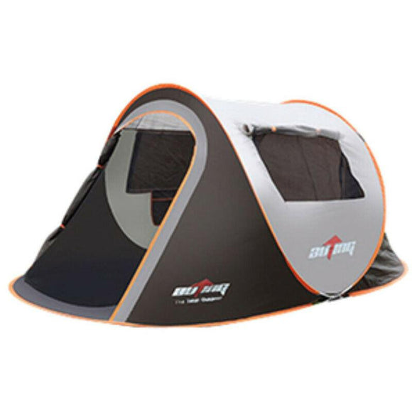 Auto 3-4 person Instant Pop-Up Tent Two Double Doors Two windows Setup in Seconds