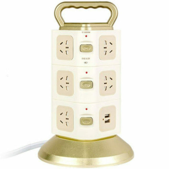 Vertical Socket With USB Charging Charger Outlets