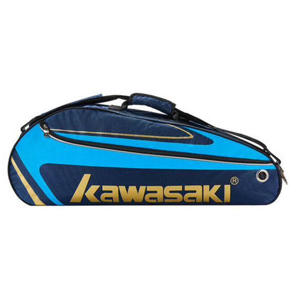 Kawasaki Racket Badminton Bag Waterproof Single Shoulder Squash Racquet Team Sports Bags Can Hold 3 Rackets With Shoe Bag