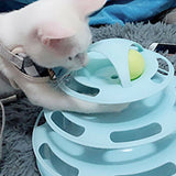 Mental Physical Exercise Interactive Cat Toys for Cats and Kittens Tower of Tracks Cat Toy