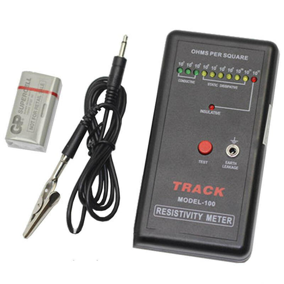 Handheld Surface Resistance Tester Electric Resistivity Meter Anti-static Tester