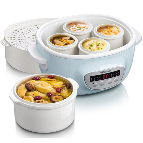 BEAR 2-3L Electric Cooker Stew Electric Automatic Ceramic Soup Casserole Small Household Baby Porridge Pot
