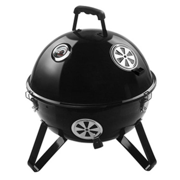 e-Rover CF-E112015 Portable Barbecue Oven Smoke Bake Roast Charcoal Small BBQ Grill Stainless Steel Outdoor Cooking