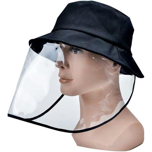 Yipian Unisex Anti-saliva Protective Fisherman Hat Cap Face Shield Transparent Cover