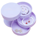 SUMMER B016 Multilayer Advanced Rotating Jewelry Storage Box Rings Earrings Keys Organizer