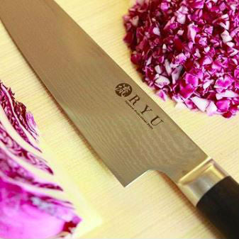 In making authentic Japanese VG-10 chef's knife RYU