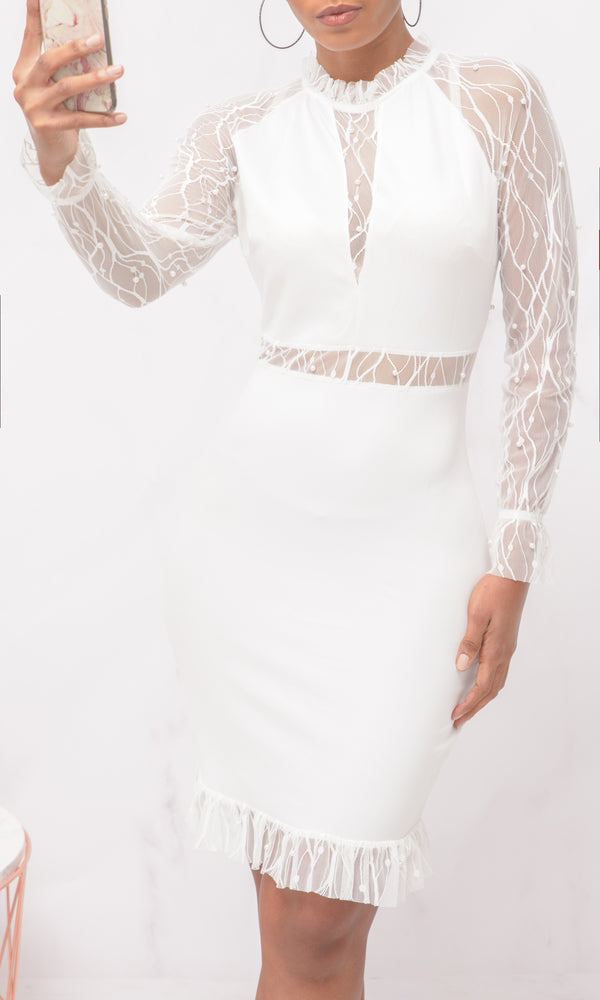 Robe Linsey Blanche
