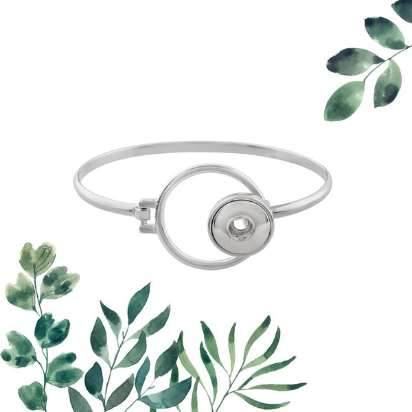 12mm Petite Snap Button Bangle - Circle Clasp