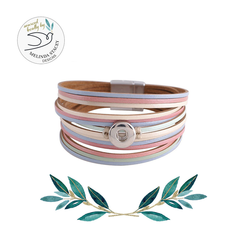 12mm Petite Snap Button Bracelet - Strappy Cuff