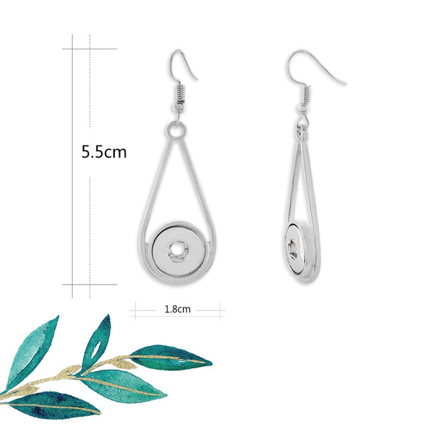 12mm Petite Snap Button Earrings - Tear Drops