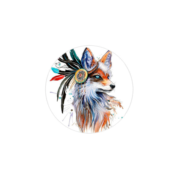 18mm Painted Enamel Wild Fox Snap Button
