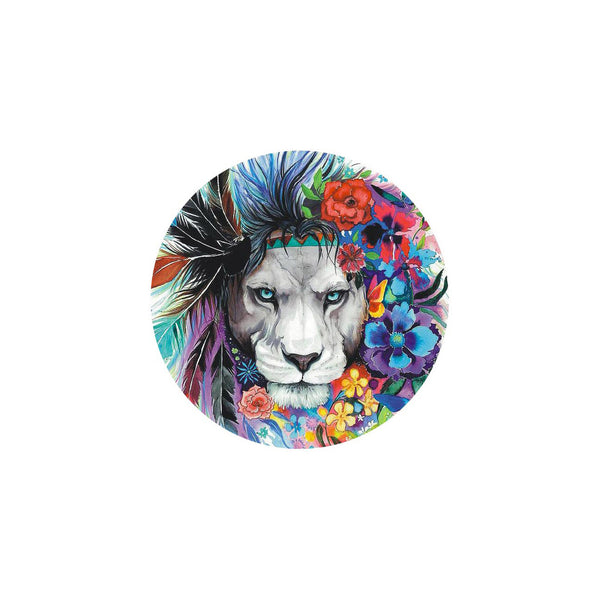 18mm Painted Enamel Wild Lion Snap Button
