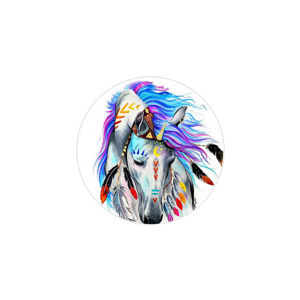 18mm Painted Enamel Wild Horse Snap Button