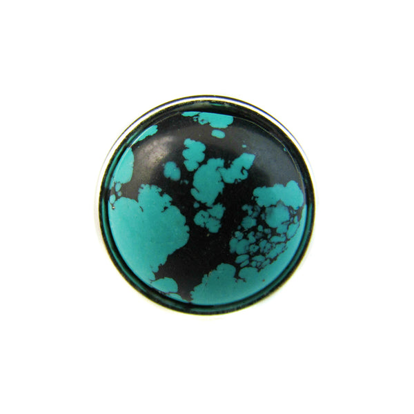 18mm Gemstone Snap Button Collection - African Turquoise