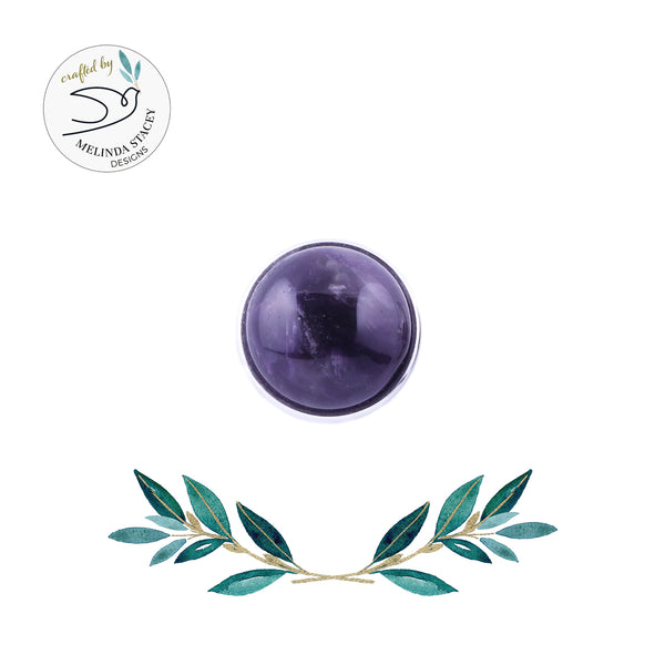 18mm Gemstone Snap Button Collection - Amethyst