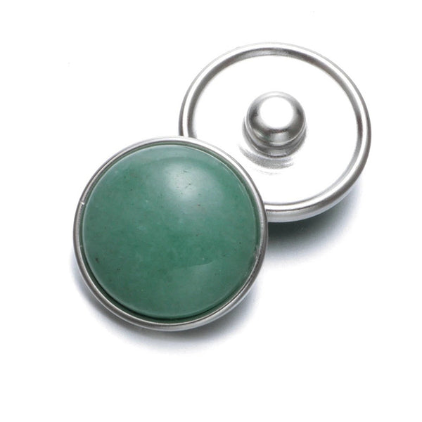 18mm Gemstone Snap Button Collection - Aventurine