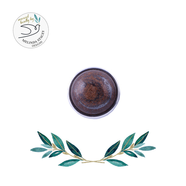 18mm Gemstone Snap Button Collection - Bronzite